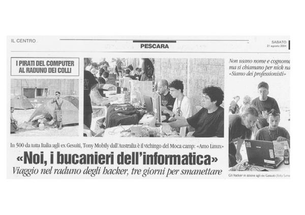 Rassegna Stampa - Metro Olografix - Noi, i bucanieri dell'informatica - Il Centro 21/08/2004